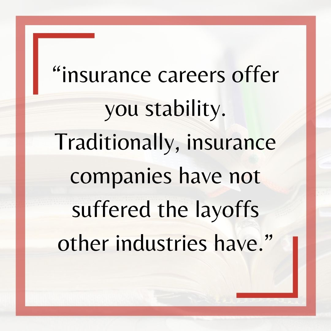 Insurance Career Quote